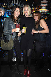 Left to right, MARINA HANBURY, the HON.SOPHIA HESKETH and WILLA KESWICK at the launch party of the Cheap Date Guide to Style by Kira Jolliffe and Bay Garnett held at Kabaret's Prophecy,  16-18 Beak Street, London on 15th February 2007.<br /><br />NON EXCLUSIVE - WORLD RIGHTS
