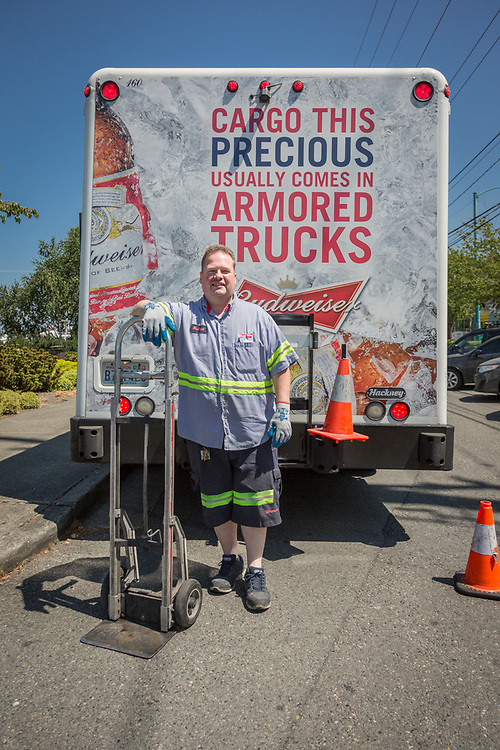 """""""Ive been in the beer business 25 years...I'm a people person and everyone is happy to see me.  Unfortunately, I'm not much of a beer drinker.""""  -Delivery driver Michael McCoy, Seattle, WA"""