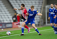 Football - 2020 / 2021 Sky Bet League One - Sunderland vs Ipswich Town - Stadium of Light<br /> <br /> Chris Maguire of Sunderland vies with Mark McGuinness of Ipswich Town<br /> <br /> <br /> COLORSPORT/BRUCE WHITE