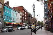Charlotte Street in London's Fitzrovia