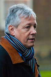 London, December 15th 2014. Northern Ireland's first and deputy first ministers join Scottish and Welsh leaders for Joint Ministerial Committee talks with David Cameron in Downing Street. The talks come three days after Cameron's offer of a financial package for the Northern Ireland Executive was rejected by Stormont. PICTURED: Northern Ireland's First Minister Peter Robinson talks to the press.