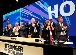SNP Spring Conference, Sunday 28th April 2019<br /> <br /> Pictured: The top table during First Minister Nicola Sturgeon's speech<br /> <br /> Alex Todd | Edinburgh Elite media
