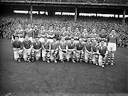 12/10/1952<br /> 10/12/1952<br /> 12 October 1952<br /> <br /> GAA All Ireland Senior Football Replay Meath Vs. Cavan<br /> The Cavan Team<br /> <br /> Morris, J. McCabe, P. Brady, D. Maguire, P. Carolan, L. Maguire, B. O'Reilly, V. Sherlock, T. Hardy, S. Hetherton, M. Higgins (Captain), E. Carolan, J. J. Cassidy, A. Tighe, J. Cusack. Note: P. Fitzsimons played in drawn game. J. Cusack came on for replay. P. Fitzsimmons was introduced as Sub for J. J. Cassidy in replay