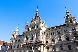 THEMENBILD, Graz, Österreich, Im Grazer Rathaus befinden sich unter anderem die Amtsraeume des Grazer Buergermeisters, sowie des Gemeinderates und Teile der Stadtverwaltung. im Bild das Grazer Rathaus //THEME IMAGE, FEATURE, In the City Hall of Graz are the bureaus of the mayor of Graz, as well as the local council and parts of the city administration. picture shows the City Hall of Graz. Graz, Austria on 2012/09/18. EXPA Pictures © 2012, PhotoCredit: EXPA/ Sebastian Pucher