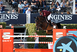 Al Rumaihi Ali Yousef, (QAT), Gunder <br /> First Round<br /> Furusiyya FEI Nations Cup Jumping Final - Barcelona 2015<br /> © Dirk Caremans<br /> 24/09/15