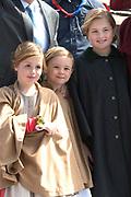 Koningsdag in Dordrecht / Kingsday in Dordrecht<br /> <br /> Op de foto / On the photo: <br /> <br /> Prinses Amalia , Prinses Alexia en Prinses Ariane <br /> <br /> Princess Amalia, Princess Alexia and Princess Ariane