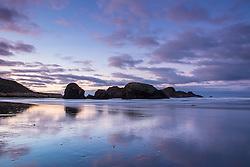 Sunrise at Gold Beach on the rugged southern  Oregon Coast.