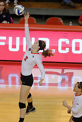 06 November 2015:  Jaelyn Keene(2) during an NCAA women's volleyball match between the Bradley Braves and the Illinois State Redbirds at Redbird Arena in Normal IL (Photo by Alan Look)