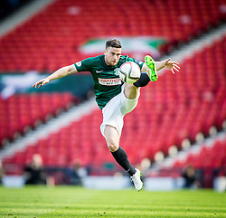 Hibernian's Lewis Stevenson.<br /> Hibernian 0 v 1 Falkirk, William Hill Scottish Cup semi-final, played 18/4/2015 at Hamden Park, Glasgow.