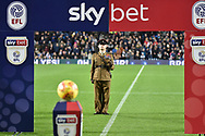A Soldier shouts a command framed by the Skybet Tunnel during the EFL Sky Bet Championship match between West Bromwich Albion and Leeds United at The Hawthorns, West Bromwich, England on 10 November 2018.