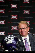 DALLAS, TX - JULY 21:  TCU head coach Gary Patterson speaks during the Big 12 Media Day on July 21, 2014 at the Omni Hotel in Dallas, Texas.  (Photo by Cooper Neill/Getty Images) *** Local Caption *** Gary Patterson