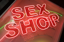 Neon sign for a Sex shop and bar in Las Palmas; Canaries,