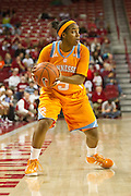 Jan 8, 2012; Fayetteville, AR, USA; Tennessee Lady Volunteers guard Ariel Massengale (5) looks to make a pass during a game against the Arkansas Razorbacks at Bud Walton Arena. Tennessee defeated Arkansas 69-38. Mandatory Credit: Beth Hall-US PRESSWIRE