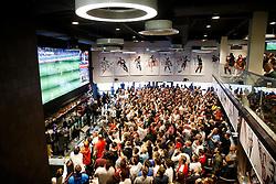 England v Iceland is shown on screens in the Sports Bar & Grill at Ashton Gate Stadium during Euro 2016 - Mandatory byline: Rogan Thomson/JMP - 27/06/2016 - Ashton Gate Stadium - Bristol, England - Euro 2016 Fans in England.