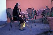 An elderly resident of Capri, Anacapri, Italy.