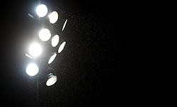 Flood lights in the rain  - Mandatory by-line: Joe Meredith/JMP - 26/03/2016 - RUGBY - Sixways Stadium - Worcester, England - Worcester Warriors v London Irish - Aviva Premiership