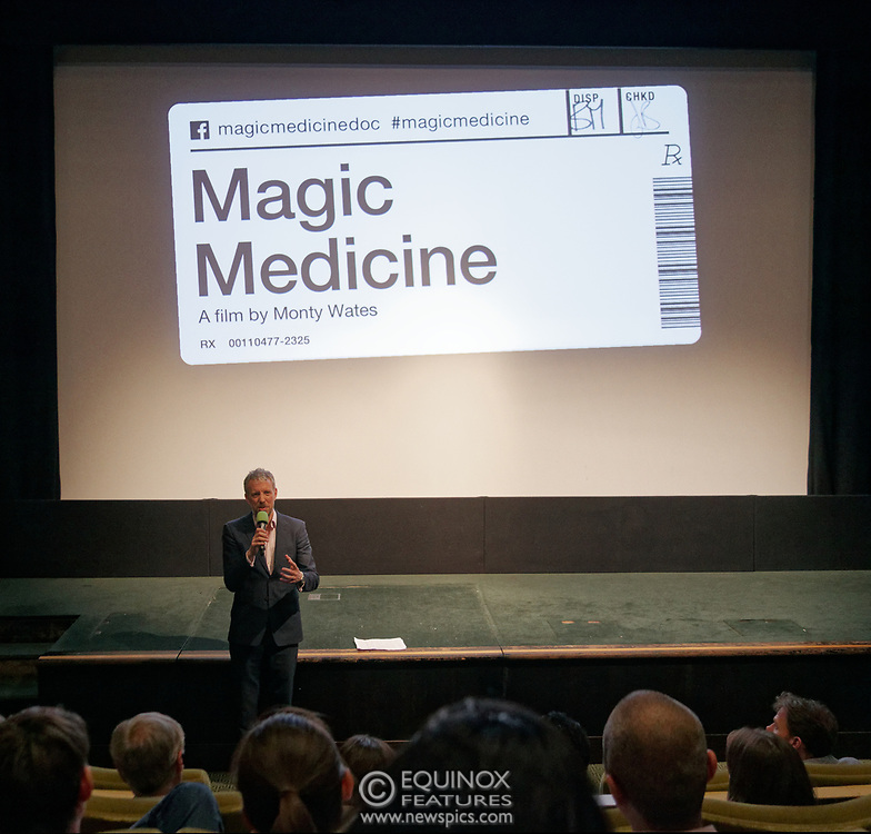London, United Kingdom - 26 February 2019<br /> DrugScience CEO David Badcock at the screening of film, Magic Medicine at the Regent Street Cinema, Marylebone, London, England, UK. The film follows volunteers receiving experimental treatment with psilocybin, the active ingredient in magic mushrooms, to see if it can help treat long-term depression. DrugScience is a charity researching the medical uses of psychoactive drugs. The film was followed by a Q&A with Professor David Nutt founding chair of DrugScience and Head of the Neuropsychopharmacology Unit in the Centre for Academic Psychiatry in the Division of Brain Sciences, Dept of Medicine, Hammersmith Hospital, Imperial College London. Professor Nutt was formerly chair of the Advisory Council on the Misuse of Drugs.<br /> (photo by: EQUINOXFEATURES.COM)<br /> Picture Data:<br /> Photographer: Equinox Features<br /> Copyright: ©2019 Equinox Licensing Ltd. +448700 780000<br /> Contact: Equinox Features<br /> Date Taken: 20190226<br /> Time Taken: 19401331<br /> www.newspics.com