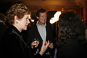 LYNN REDGRAVE AND DAVID HARE, Vanessa Redgrave and Thelma Holt host a reception at the<br />