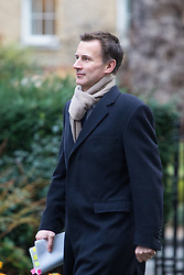 Downing Street, London, February 7th 2017. Health Secretary Jeremy Hunt arrives in Downing Street for the weekly UK cabinet meeting.