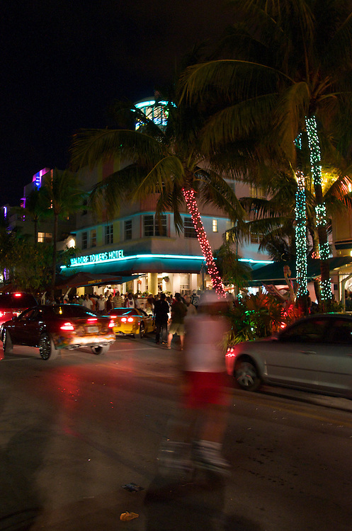 View of Ocean Drive during the 2008 Miami Beach Urban Weekend. The Miami Beach Urban weekend in the largest Urban Festival in the World, that caters toward the Hip Hop Generation. Over 300.000 participants make the annual trek to South Beach for 4 days full of fun, food, festivities, entertainment, music, and more.