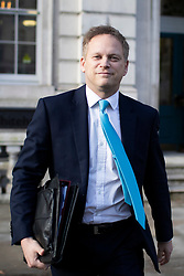 © Licensed to London News Pictures. 16/01/2019. London, UK. Secretary of State for Transport Grant Shapps departs the Cabinet Office. Photo credit: George Cracknell Wright/LNP
