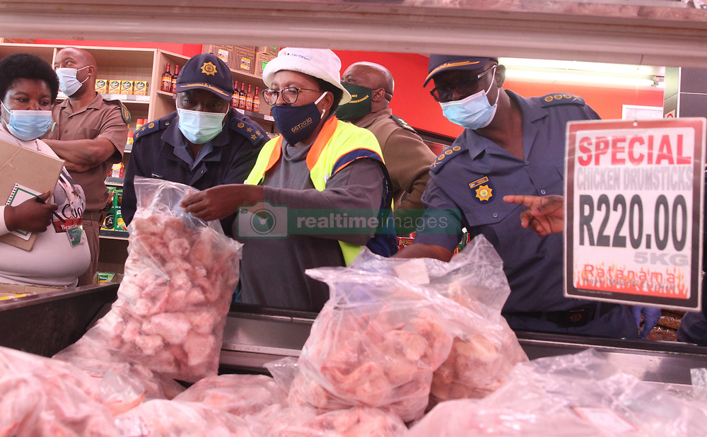 South Africa - Pretoria - 4 June 2020 - MEC of Comunity Safety Faith Mazibuko checks expiry dates at a butchery in Marabastad.<br /> Picture: Jacques Naude/African News Agency(ANA)