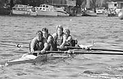 Kingston on Thames, United Kingdom. Lea RC. W4+   The final Round of the Leyland Daf Sprint series, at Kingston RC on the River Thames, Surrey, England, <br /> <br /> Saturday 04.05.1987<br /> <br /> [Mandatory Credit; Peter Spurrier/Intersport-images] 1987 Leyland Daf Sprints, Kingston. UK