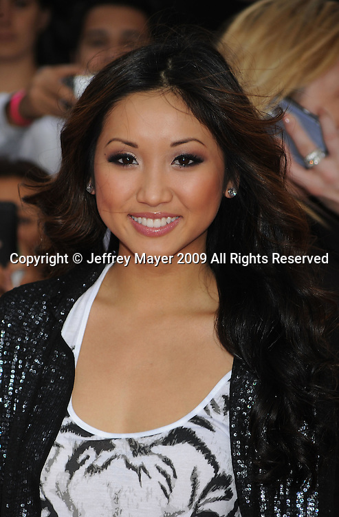 """LOS ANGELES, CA. - October 27: Brenda Song arrives at the Los Angeles Premiere of """"This Is It"""" held at Nokia Theatre L.A. Live on October 27, 2009 in Los Angeles, California."""