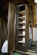 A wooden cabinet by furniture maker Adrian Swintead in his Maulden Woods studio, Bedfordshire<br /> CREDIT: Vanessa Berberian for The Wall Street Journal<br /> GURU-SWINSTEAD