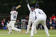 Tim Ambrose of Warwickshire appeals unsuccessfully for the wicket of Gary Ballance of Yorkshire during the Specsavers County Champ Div 1 match between Yorkshire County Cricket Club and Warwickshire County Cricket Club at York Cricket Club, York, United Kingdom on 17 June 2019.