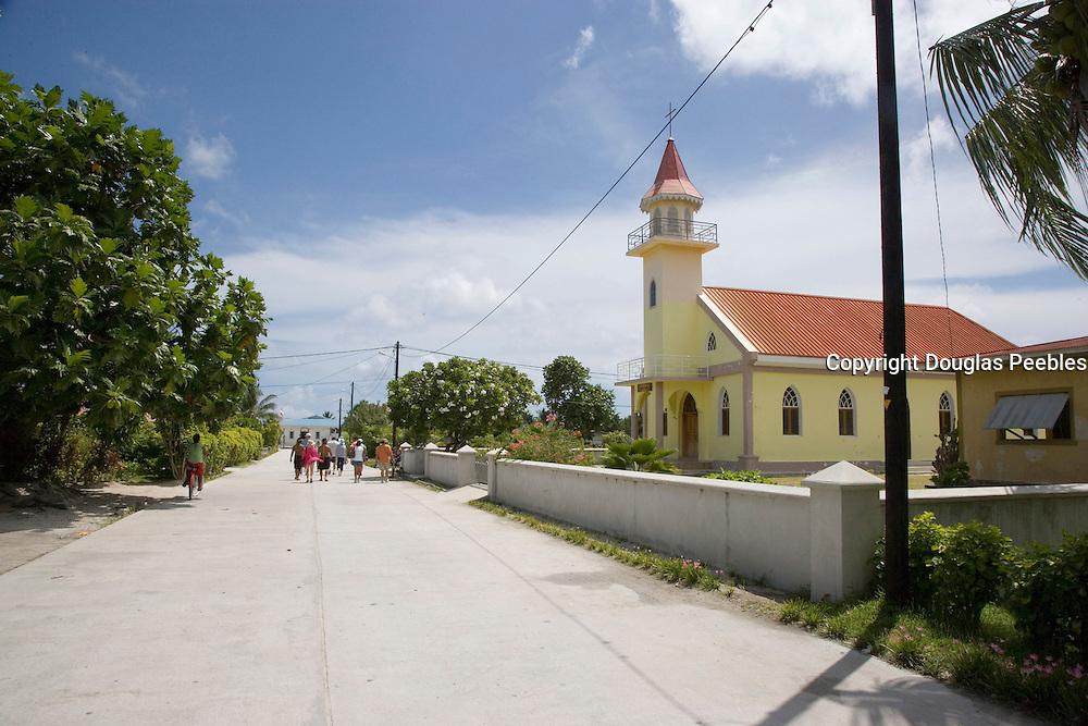 Church, Takapoto, Tuamotu Islands, French Polynesia<br />