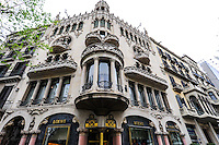 Spain, Barcelona. The Casa Lleó-Morera is a building designed by Lluís Domènech i Montaner.