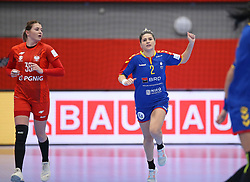 KOLDING, DENMARK - DECEMBER 5: Elena Dinca celebrates during the EHF Euro 2020 Group D match between Poland and Romania in Sydbank Arena, Kolding, Denmark on December 5, 2020. Photo Credit: Allan Jensen/EVENTMEDIA.