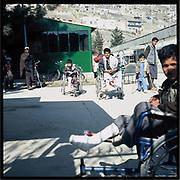 Mine victims in Kabul.