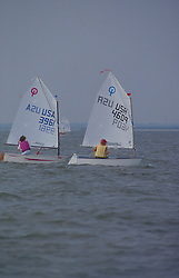 Stock photo of two sailboats on the water