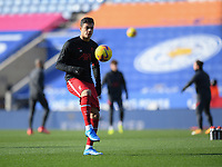 Football - 2020 / 2021 Premier League - Leicester City vs Liverpool - King Power Stadium<br /> <br /> Liverpool's Ozan Kabak during the pre-match warm-up.<br /> <br /> COLORSPORT/ASHLEY WESTERN