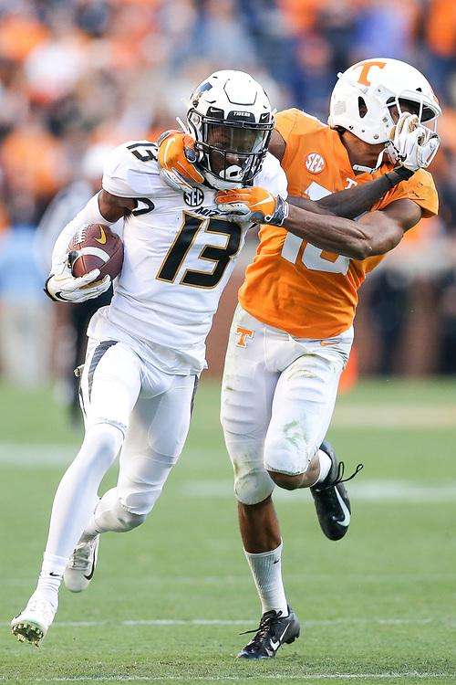 wide receiver Kam Scott (13)<br /> Mizzou Tigers vs. Tennessee Volunteers vs.at Neyland Stadium in Knoxville, Tenn. on Saturday, Nov. 17, 2018. <br /> Zach Bland/Mizzou Athletics