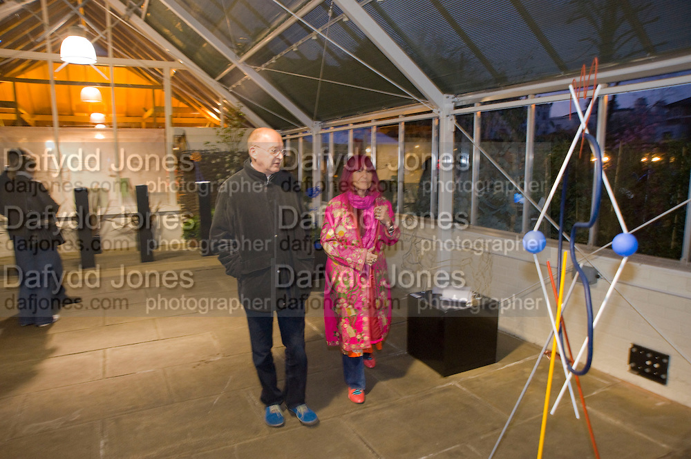 JON WEALLEANS; NATHALIE GIBSON, David Macilwaine sculptures at Clifton Nurseries. London. 1 April  2009