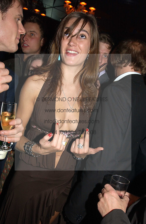 SOPHIA ROGGE and LORD FREDERICK WINDSOR at a party hosted by Tatler magazine to celebrate the publication of the 2004 Little Black Book held at Tramp, 38 Jermyn Street, London SW1 on 10th November 2004.<br /><br />NON EXCLUSIVE - WORLD RIGHTS