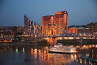 Covington Skyline in Northern Kentucky with Riverboat