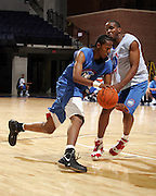 C/F Xavier Gibson (Dothan, AL / Northview) drives with the ball during the NBA Top 100 Camp held Thursday June 21, 2007 at the John Paul Jones arena in Charlottesville, Va. (Photo/Andrew Shurtleff)