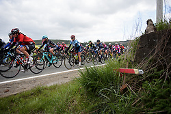 Cecilie Uttrup Ludwig in the bunch at the Liege-Bastogne-Liege Femmes - a 135.5 km road race between Bastogne and Ans on April 23 2017 in Liège, Belgium.