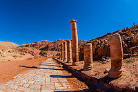 Colonnaded Street, Petra Archaeological Park (a UNESCO World Heritage Site), Petra, Jordan.
