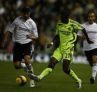 Photo: Steve Bond/Sportsbeat Images.<br />Derby County v Chelsea. The FA Barclays Premiership. 24/11/2007. Salomon Kalou (R) knocks the ball past Dean Leacock (L)