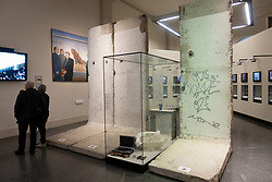 Sections of Berlin Wall on display last Berlin History Museum, in Germany