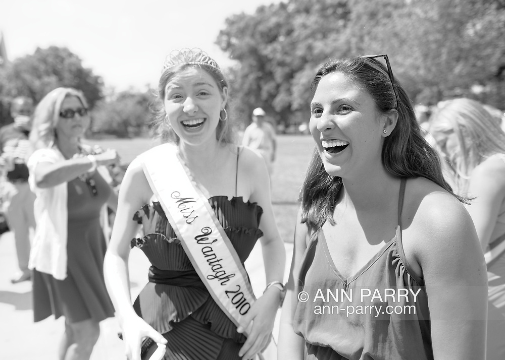 Wantagh, NY, USA. July 4, 2012. KELLY GARLAND, Miss Wantagh 2010, attends Miss Wantagh Pageant ceremony, a long-time Independence Day tradition on Long Island.