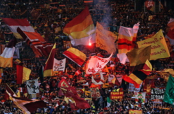 Roma wave flags and set off flares - Mandatory by-line: Matt McNulty/JMP - 02/05/2018 - FOOTBALL - Stadio Olimpico - Rome,  - Roma v Liverpool - UEFA Champions League Semi Final, 2nd Leg