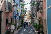 Decorated Pedestrian Street Rua Da Silva, Old Town, Lisbon, Portugal