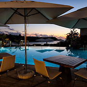 The Coral Tree Restaurant in Black River, Mauritius. One of the many beautiful seaside restaurants in the country with fusion cuisine.