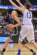 April 4, 2016; Indianapolis, Ind.; Alysha Devine drives to the basket in the NCAA Division II Women's Basketball National Championship game at Bankers Life Fieldhouse between UAA and Lubbock Christian. The Seawolves lost to the Lady Chaps 78-73.